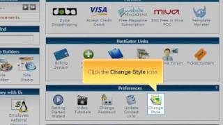 How to change the look and feel of your cPanel