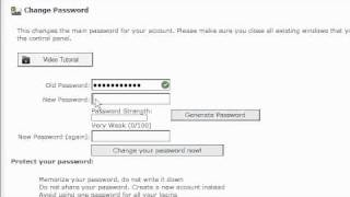 How to change your HostGator cPanel password
