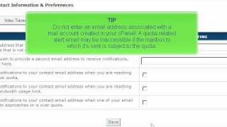 Updating your contact information in cPanel