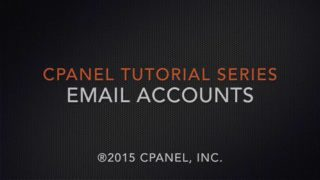 cPanel Tutorials: Email Accounts
