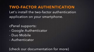 WHM Tutorials: Two Factor Authentication