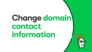 How to Change Domain Contact Information | GoDaddy